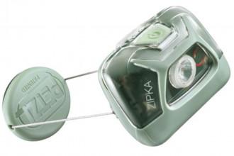 Petzl Zipka E093GA01 Lampe frontale avec enrouleur à fil auto-ajustable verte