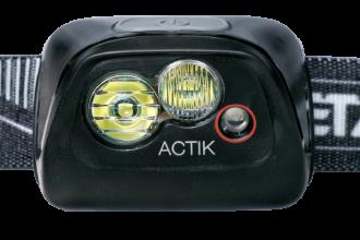 Petzl ACTIK E099FA00 Lampe frontale noire puissante et légère pour activité outdoor