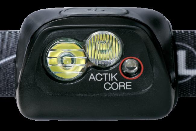 Petzl ACTIK CORE E099GA01 Lampe frontale rouge rechargeable puissante à double faisceaux