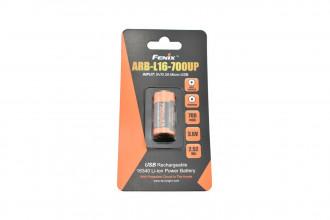 ARBL16-700UP - Batterie 16340 Li-ion 700mAh Micro USB