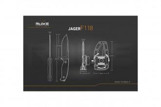 Ruike F118B Jager Noir - 223mm