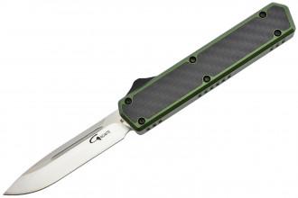 Golgoth G11C2 Vert. Couteau automatique OTF double action