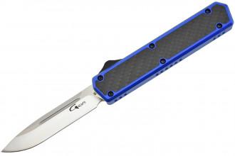 Golgoth G11C4 Bleu. Couteau automatique OTF double action