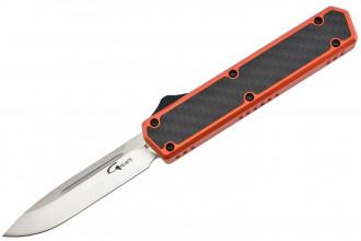 Golgoth G11C5 Orange. Couteau automatique OTF double action