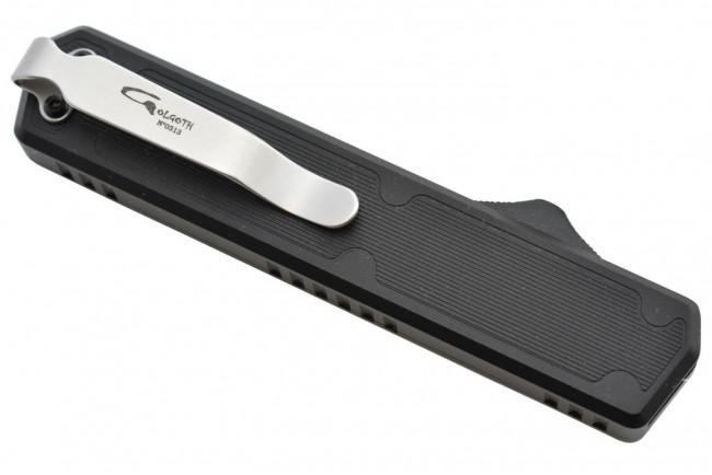 Golgoth G11D1 Noir. Couteau automatique OTF double action