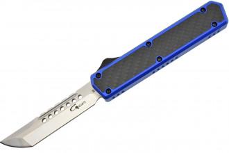 Golgoth G11D4 Bleu. Couteau automatique OTF double action
