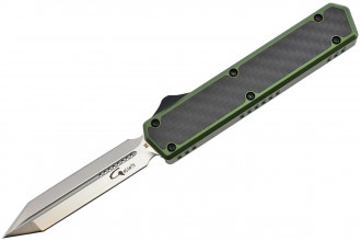 Golgoth G11E2 Vert.  Couteau automatique OTF double action