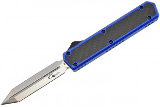 Golgoth G11E4 Bleu. Couteau automatique OTF double action