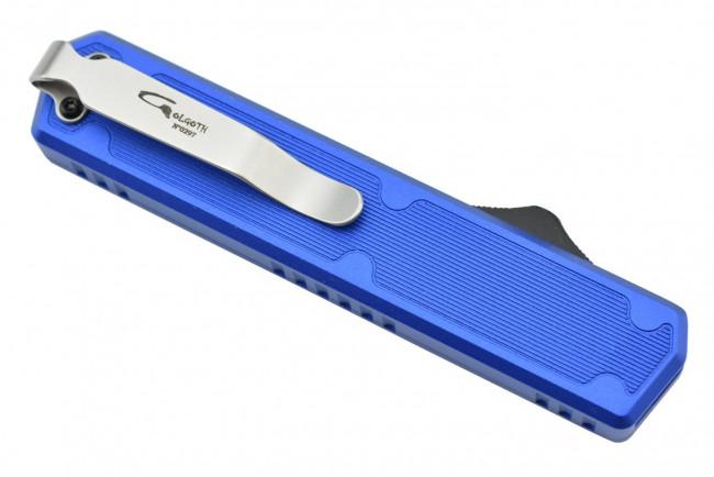 Golgoth G11F4 Bleu. Couteau automatique OTF double action