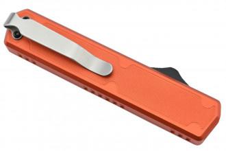 Golgoth G11F5 Orange. Couteau automatique OTF double action