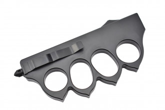 Maxknives MKO13B3 Couteau automatique poing américain 1918 lame acier manche zinc aluminium