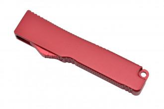 MKO30 Petit couteau OTF automatique aluminium anodisé rouge