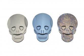 MaxKnives MKSMC+ Pince à billet Skull titane anodisé