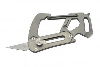 MaxKnives MKTI1 Mousqueton cutter Titane naturel