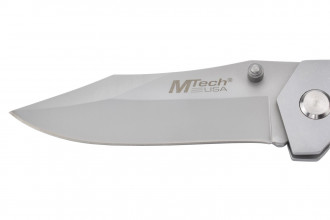 M-Tech - Couteau pliant - Lame acier 440 et manche bois texturé