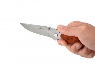 Couteau pliant Mtech en bois Texturé