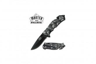M-Tech Master USA MU-A001GYSC couteau à ouverture assistée design skull