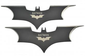 Maxknives NS139 paire de Ninja Shuriken Batman 2 branches acier 420 noir