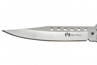 Maxknives P52S Couteau papillon lame acier 3CR13 manche acier silver
