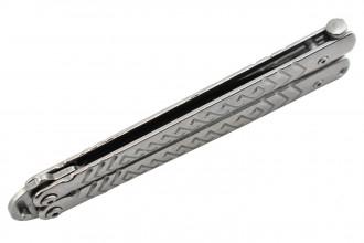 Maxknives P54S Couteau papillon lame acier 3CR13 manche acier silver