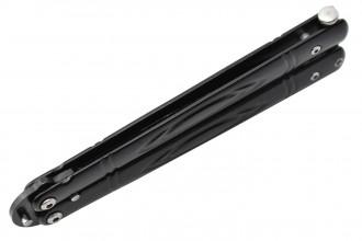 Maxknives P55B Couteau papillon lame acier 3CR13 manche acier noir