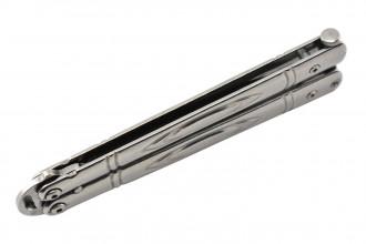 Maxknives P55S Couteau papillon lame acier 3CR13 manche acier silver