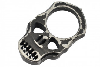 Maxknives PASKNA Poing américain Skull en aluminium noir antique