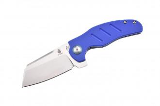 Kizer V3488C3 C01C par Sheepdog lame en acier 154CM et manche en G10 bleu