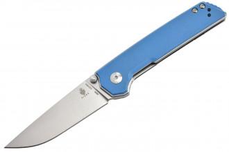 Kizer V3516N2 Domin - Lame acier N690 et manche en G10 bleu