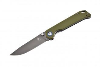 Kizer V4458A2 Begleiter Vanguard couteau lame en VG10 et manche en G10 kaki