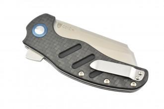 Kizer V5488C3 C01C XL par Sheepdog Knives lame 154CM manche fibre de carbone