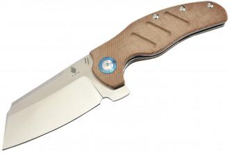 Kizer V5488C4 C01C XL par Sheepdog knives lame acier 154CM manche micarta