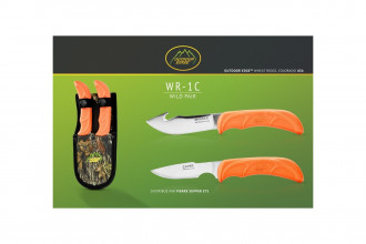 Outdoor Edge WR1C - WILD PAIR - 2 couteaux Skinner & Caper